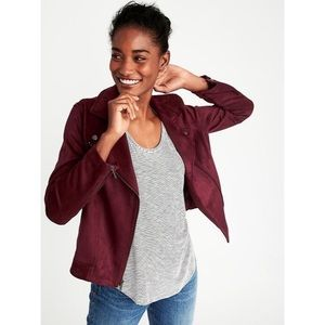 Old Navy | Sueded-Knit Moto Jacket